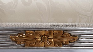 silver and gold ornate chaise longue