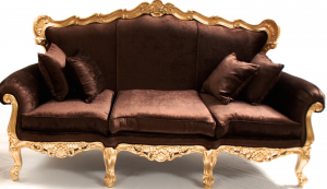 ornate gold leaf italian style sofa