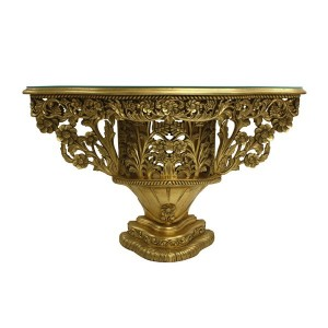 gold bouquet console table
