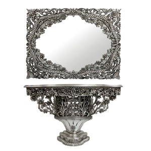 mirror for bouquet table