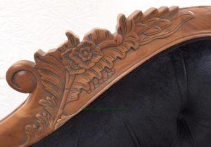 1Beautiful Hampshire Chaise Mahogany Antiqued Oak Finish