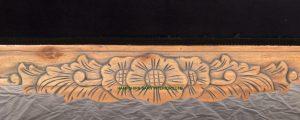 Beautiful Hampshire Chaise i Mahogany with antiqued oak Finish