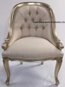 champagne colour salon tub chair