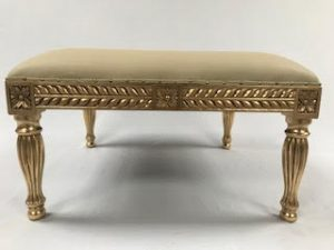 A A 1 Wedding Stool Gold Leaf Frame with easiclean Faux Leather