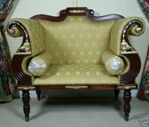 Bergere Regency Style Armchair