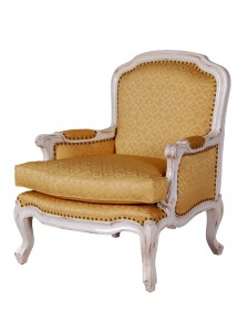 Florence Chair in White/Gold