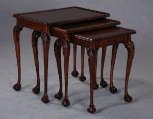 Nest of Mahogany Tables (A)