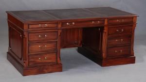 Georgian Large Desk with Modesty Panel