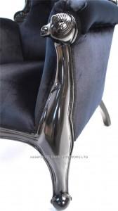 BLACK BEAUTY ARM CHAIR IN BLACK GLOSS BLACK VELVET3