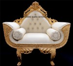 catherine wedding chair gold leaf and faux leather with crystal buttons