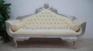catherine silver leaf wedding sofa