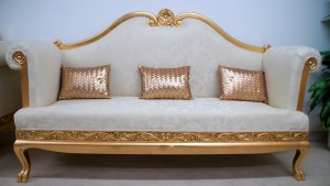 Aa 1 wedding stage set ornate gold and cream SOFA