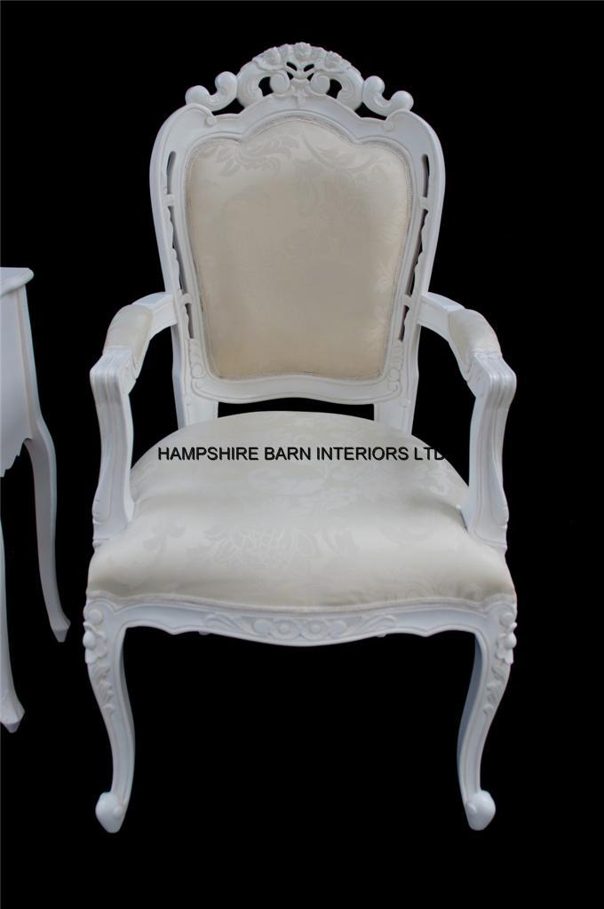 Chateau French Style Ornate White Chair Dining Desk Dressing