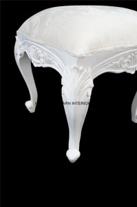 chateau french white foot stool