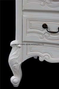 chateau white french painted chest of drawers 2