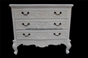 white painted chateau chest of drawers