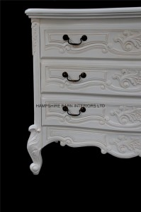 chateau white french painted chest of drawers 5