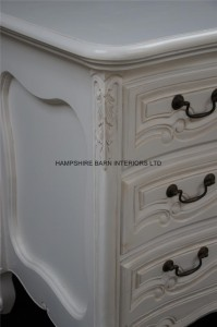 chateau white french painted chest of drawers 6