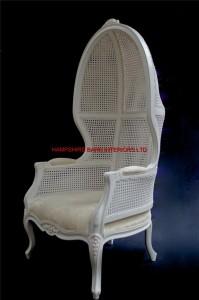 Chateau Alpha Throne Chair White Ivory Tall