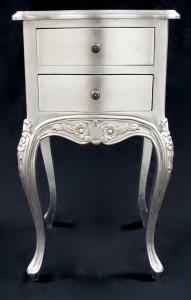 Silver leaf lamp table or bedside cabinet