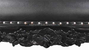 large ornate french chaise longue black painted black faux leather.jpg1