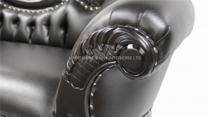 large ornate french chaise longue black painted black faux leather.jpg1.jpg 2