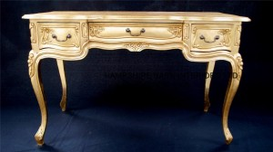 ornate gold leaf desk Louis french style