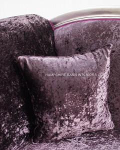 large ornate silver purple chaise longue