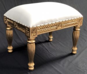 A A AVALON ORNATE GOLD LEAF WEDDING STOOL